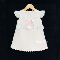 New Arrival Gorgeous Baby Girl Pink Spanish Dress Lace Trimmings